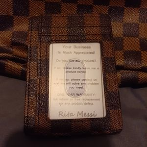 Unlisted Bags - Checkered wallet, ID holder, and waist bag set